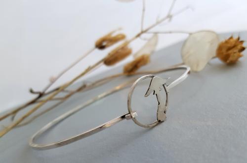 Mushroom Bracelet - Silver.
